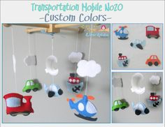 Baby Crib MobileCars Airplane Train and Boat by LincKids on Etsy, $65.00