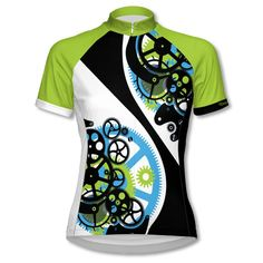 - Description - Details - Reviews - Ride like a well-oiled machine in the Cogs short sleeve women's cycling jersey from Doyenne. NOTE: Our 2016 Doyenne regular size jerseys are running small. Please s