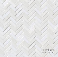 Encore Ceramics | Mini Herringbone mosaic hand-glazed in Loveland blend: Brie gloss, Milk gloss, Bianca matte, and Moonlight crackle | Sustainably made in Oregon