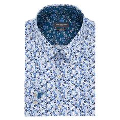 Featuring an expandable collar and checked pattern, this men's Van Heusen checked dress shirt keeps you feeling and looking great at the office or on the weekend. Homecoming Outfits For Guys, Collar Dress, Shirt Dress, Point Collar, Tie Knots, This Man, Looks Great, Size Chart, How Are You Feeling