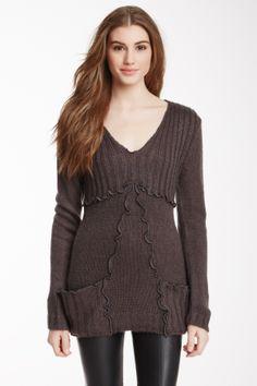 Ruffle Trim Sweater Tunic on HauteLook
