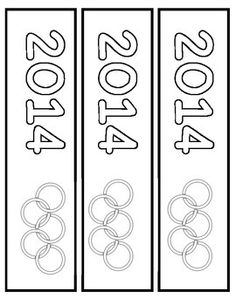 Winter Olympics 2014 Book Marks