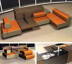 Unusual kitchen furniture Michael Schmidt cooklounge 5 Inventive Kitchen Furniture & Interior Design Concepts