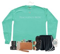 """ootd; taking pictures for the baseball team"" by mallorykennerly ❤ liked on Polyvore featuring NIKE, Chaco, Ray-Ban, Kendra Scott, Nikon, Kate Spade, Tory Burch and Casio"