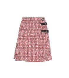Alexander McQueen Embellished Tweed Skirt For Spring-Summer 2017 1c7908c8d16b