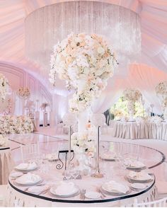 We found Wonderland! Ivory wedding, with blush.  Planner @caramelwedding |  @ksemenikhin | Décor @shackirova_studio  #BellaNaijaWeddings
