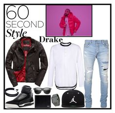 """Drake On Point"" by cultuerd-stylish ❤ liked on Polyvore featuring Balmain, Superdry, Puma, Y-3, Jordan Brand, Nixon, Dolce&Gabbana, men's fashion, menswear and DRAKE"