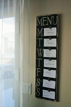 Amazing 10+ Menu Planning Board Ideas https://kidmagz.com/10-menu-planning-board-ideas/ Whiteboard Planner, Diy Whiteboard, Family Planner, Weekly Meal Planner, Weekly Menu, Diy Calender, Dinner Menu Boards, Meal Planning Board, Meal Ideas