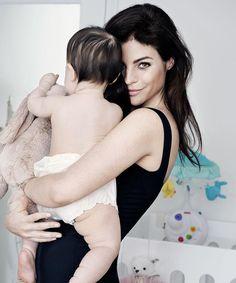 Julia Restoin Roitfeld and her daughter Romy