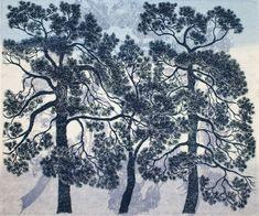 Krohn Inari - G12 Helsinki Himmelblau, Topiary, Helsinki, Cosmic, Illustration Art, Colours, Trees, Painting, Rocks