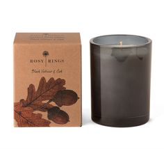 Black Vetiver & Oak. Serious candle.