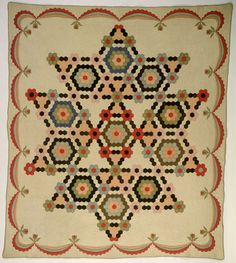 vintage honeycomb quilt by Bruce, Sophronia Ann