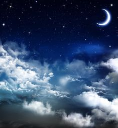 Night Sky Moon, Starry Night Sky, Stars At Night, Night Skies, Night Sky Tattoos, Ciel Nocturne, Sky Ceiling, Night Sky Wallpaper, Bedroom Wallpaper