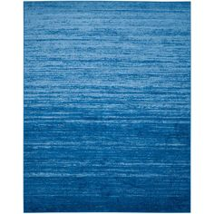 Adirondack Light Blue/Dark Blue 9 ft. x 12 ft. Area Rug