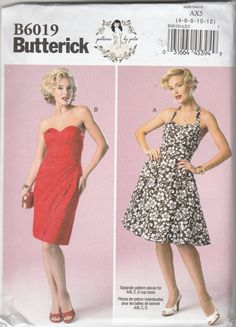 Butterick B6019 Patterns By Gertie Size 4-6-8-10-12 or 12-14-16-18-20 Misses' Dress Sewing Pattern 2014 Uncut by LadybugsandScorpions on Etsy