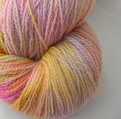 $25 merino lace hand dyed yarn in Ethereal colorway. By Knit It Up.