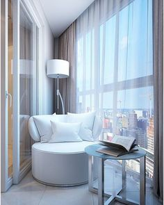 Hottest Indoor Balcony Design Ideas To Sit And Enjoy Your Time Diy Bedroom Decor For Teens, Living Room Decor, Sunroom Decorating, Interior Decorating, Decorating Ideas, Indoor Balcony, Sweet Home, Balcony Design, Design Case