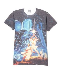 Classic artwork. Just ordered this one at 60% off, yay! Star Wars Heroes & Villains Tee - Men by Star Wars #zulilyfinds