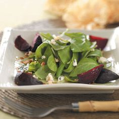 Warm Roasted Beet Salad Recipe from Taste of Home -- shared by Jill Anderson of Sleepy Eye, Minnesota  #winter_salad  #healthy