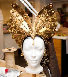 like a golden butterfly. headpiece ideas                                                                                                                                                                                 More