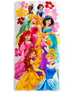 Personalize a Disney princess beach towel to make each trip to the pool or beach feel like a magical experience! Buy one here: http://www.parents.com/shop/disney-disney-princess-beach-towel-personalizable-p50d58f61e4b0b696be181d62.html