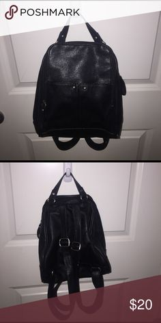 mini black backpack perfect for day trips and vacations or just everyday use:) gently used Bags Backpacks