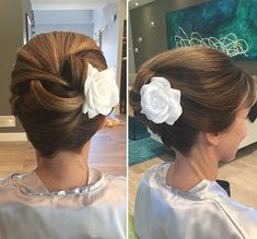 Creative Updo Ideas for Short Hair french twist formal updo for shorter hairfrench twist formal updo for shorter hair Cute Hairstyles For Short Hair, Elegant Hairstyles, Down Hairstyles, Pretty Hairstyles, Hairstyles 2016, Long Haircuts, Layered Hairstyles, Formal Hairstyles, African Hairstyles