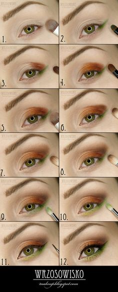 Jewel tone eye makeup