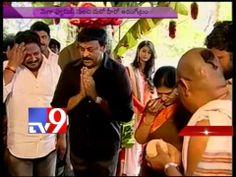 Chiranjeevi and Pawan Kalyan at Nagababu son Varun Tej's arangetram into films