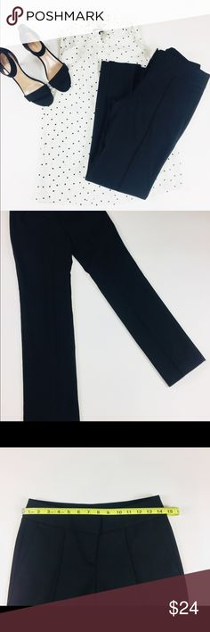 NWT LOFT Black Straight Leg Petite Pants | Size 0P These NWT black LOFT Marisa Straight black pants are an essential in your closet. They are made of 71% polyester, 28% rayon and 1% spandex. For waist, length and ankle measurements see photos. 🌹 LOFT Pants Straight Leg
