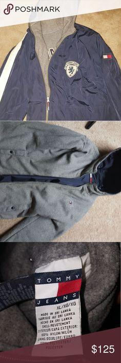 Tommy Hilfiger reversible jacket Gently used jacket (Great condition) Tommy Hilfiger Jackets & Coats Bomber & Varsity