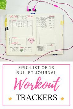 Take a look at my epic list of 13 different ways to track your workouts in your journal!
