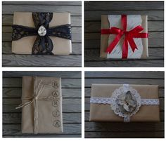 "Creative ""Try""als: I Love Kraft Paper - Gift Wrapping"