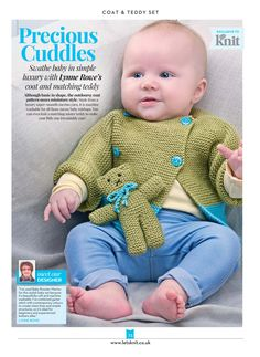 Baby Cardigan Knitting Pattern, Baby Knitting Patterns, Baby Patterns, Free Knitting, Crochet Patterns, Toddler Sweater, Kids Tops, Knitting Magazine, Free Baby Stuff
