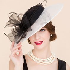 Elegant Lady Flower and Feather Design Wedding Tea Party Fascinator  Cocktails Hat Tea Party Hats 4838c02bfd3b