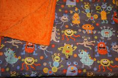 crazy monster weighted blanket no poly fill  www.etsy.com/shop/threehighchairs