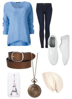 Fall outfit to wear with friends or at school.