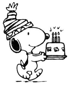 Child Coloring: Happy Birthday Snoopy coloring