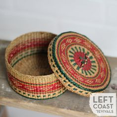 Boho Woven Basket / Colorful Bohemian Decor / by LeftCoastRevivals