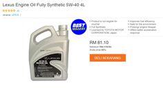Tawaran terbaik Minyak Enjin Toyota Fully Synthetic ok? Tawaran terbaik Minyak Enjin Toyota Fully Synthetic article at Info Rujukan Awam