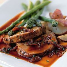 **** Roast Pork with Apricot Demi-Glace from Williams Sonoma. Made thus for Easter WS recipes are always fantastic