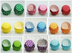 Colorful DOTTY Designs Paper Baking Cups 200pcs mixed 4 pictures FREE SHIP AAAAA on AliExpress.com. $9.99