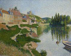 Paul Signac >> Der River Bank, Petit-Andely