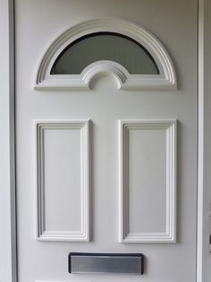 Thinking about painting your UPVC windows or doors? Painted Upvc Door, Painted Exterior Doors, Painted Front Doors, Cottage Front Doors, Front Door Porch, House Front, Front Door Design, Window Design, Painting Upvc Windows