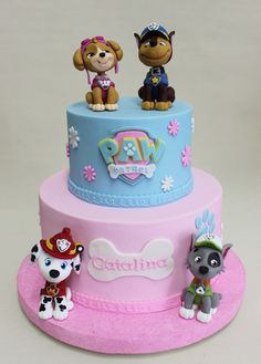 Paw Patrol for Girl Cake Violeta Glace