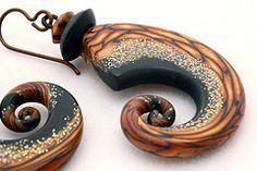 Midnight Tendril Earrings | Flickr - Photo Sharing!