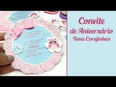 Como Fazer Convite de Aniversário Tema Corujinhas - YouTube