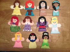 Felt Princess Finger Puppet Set  13 puppets  by designbyjmarie, $40.00