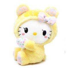 "Omg i so want this...yes i love plush dolls! Hello Kitty Panda Plush Doll - 13"" Yellow Panda"