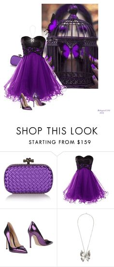 """""""Colours Series II 3/5- Purple Butterfly Cage"""" by babygurl7191 ❤ liked on Polyvore featuring Bottega Veneta, Gianvito Rossi, Alexander McQueen, women's clothing, women's fashion, women, female, woman, misses and juniors"""